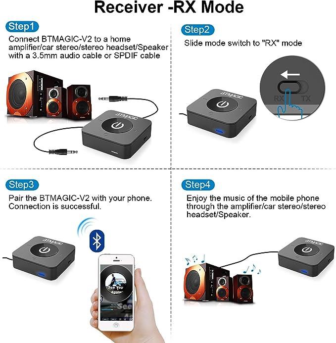 Btmagic Bluetooth 5 0 Sender Empfänger Für Tv Wireless Computer Zubehör