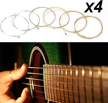 4 juegos de guitarra acústica Cuerdas de acero calibre accesorios ...