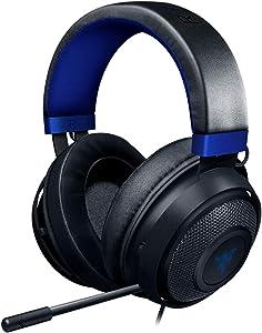 Razer Kraken Gaming Headset: Lightweight Aluminum Frame - Retractable Noise Isolating Microphone - For PC, PS4, Nintendo Switch - 3.5 mm Headphone Jack - Classic Black/Blue