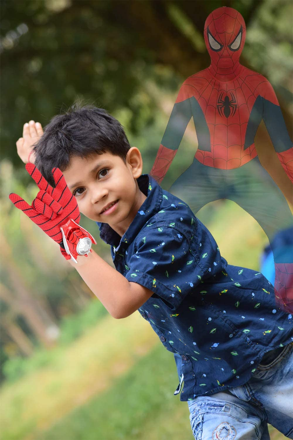The Season Toys Kids Superhero Magic Gloves with Wrist Ejection Launcher Mr America