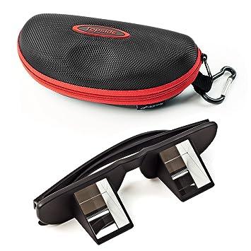 Schwarz) in Premium-Qualität - inkl. Etui, Karabinerhaken, Brillenband, Aufbewahrungsbeutel und Mikrofaser-Reinigungstuch