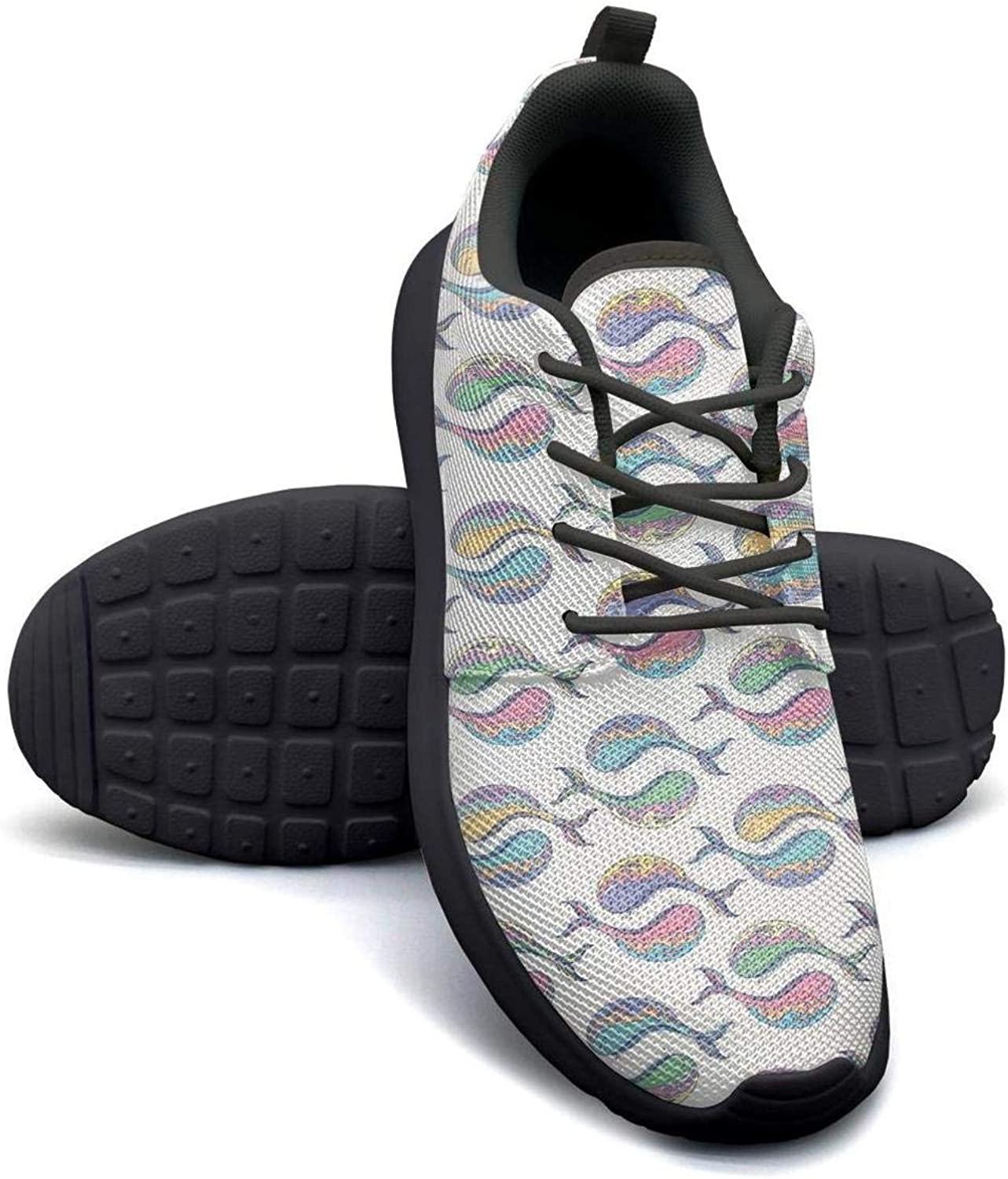 FGBCVBGFNDSF Breathable Lightweight Athletic Running Shoes Unisex Blue-and-Pink-Dinosaur-Dinosaur-Origami