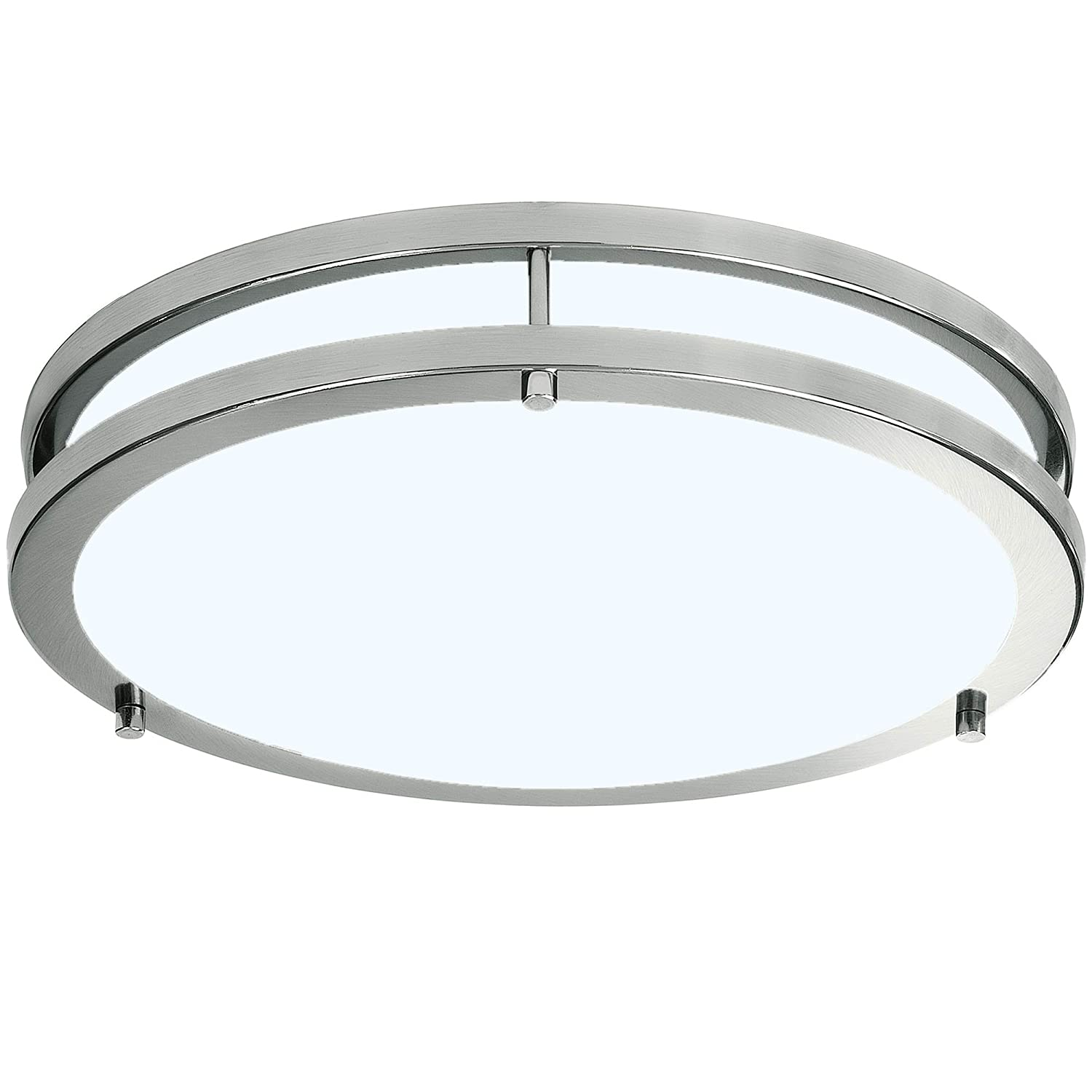 5000k Daylight 16  Round LB72133 LED Flush Mount Ceiling Lighting Oval, Antique Brushed Nickel, 32-Inch 4000K Cool White, 2800 Lumens, Energy Star