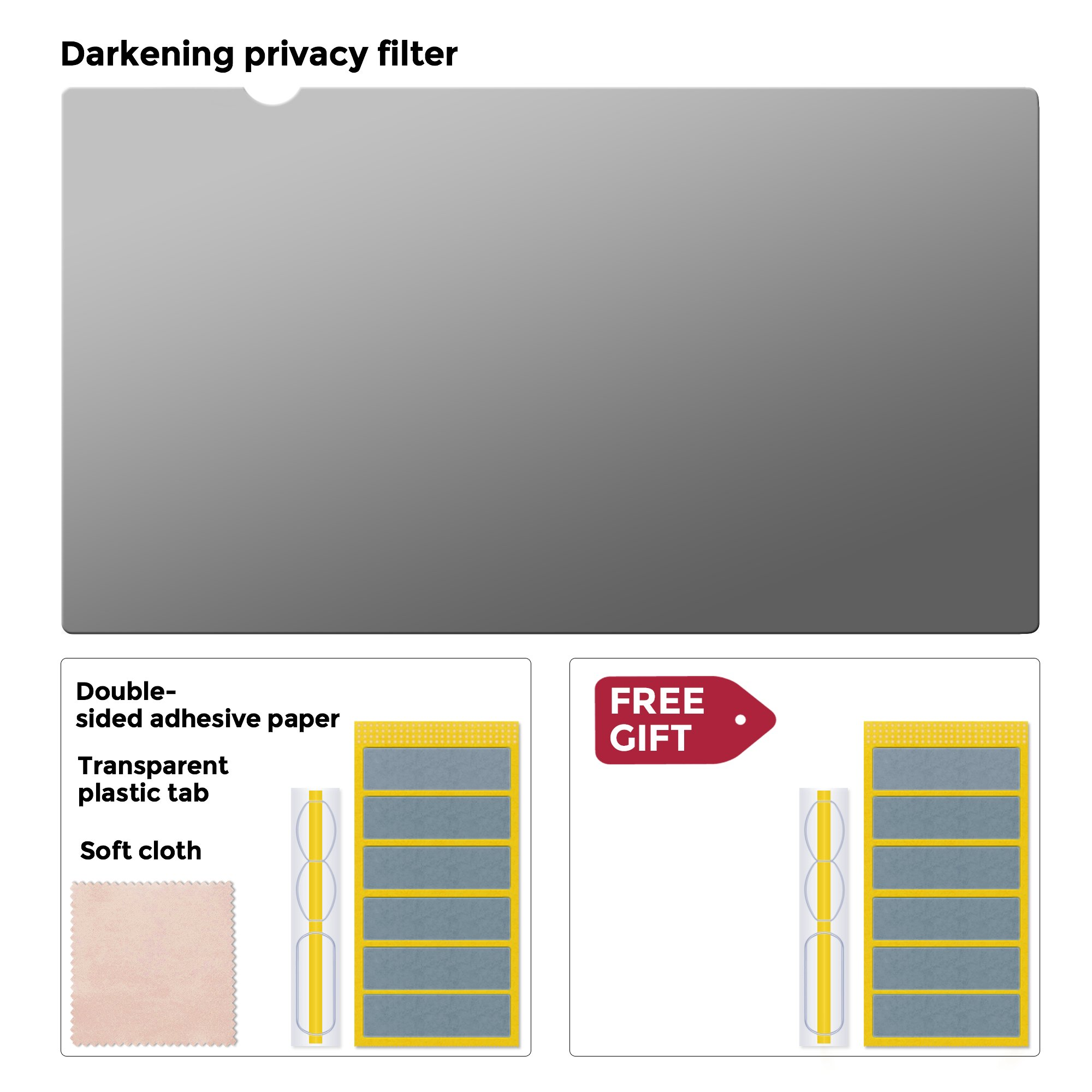 Square 19 inch (Diagonally Measured) 5:4 ratio size 14.83x11.89 inch (377x302mm) Сomputer Privacy Screen Filter for Desktop/Laptop LCD Computer Monitor, Anti-Glare. CHECK YOUR MONITOR SIZE by Privox (Image #7)