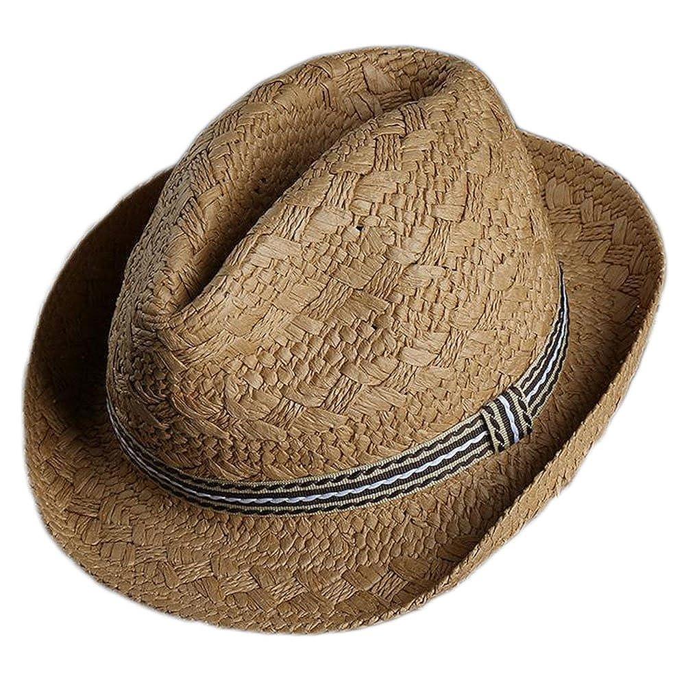 Westeng Strohhut Sommerhut Hüte Sonnenhut Cooler und Freizeit Hut Jazz Kappe für Kinder am Strand oder im Urlaub - Khaki 2821P5AQSAQ16CMRWHMHLW