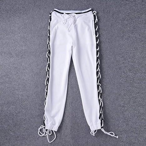 CKBYTH Pantalones Nuevo Cordón De La Moda con Cordones Pantalones ...
