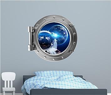 Amazoncom PortScape WALL DECAL Space Window Astronaut Selfie - Portal 2 wall decals