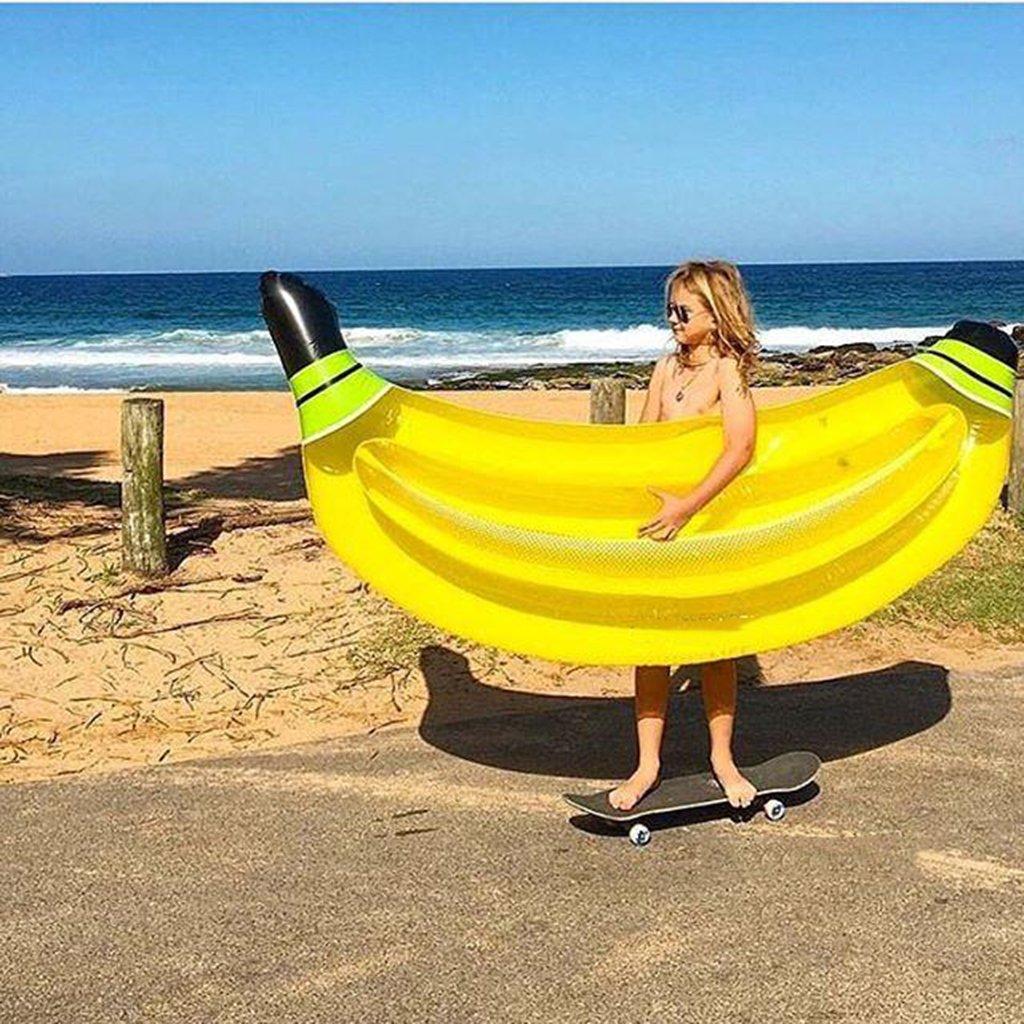 WLWWY Flotador Inflable Gigante De La Piscina Del Modelo Del Plátano, Piscina Al Aire Libre Flotador Flotador De La Cama Del Juguete Del Salón Con Las ...
