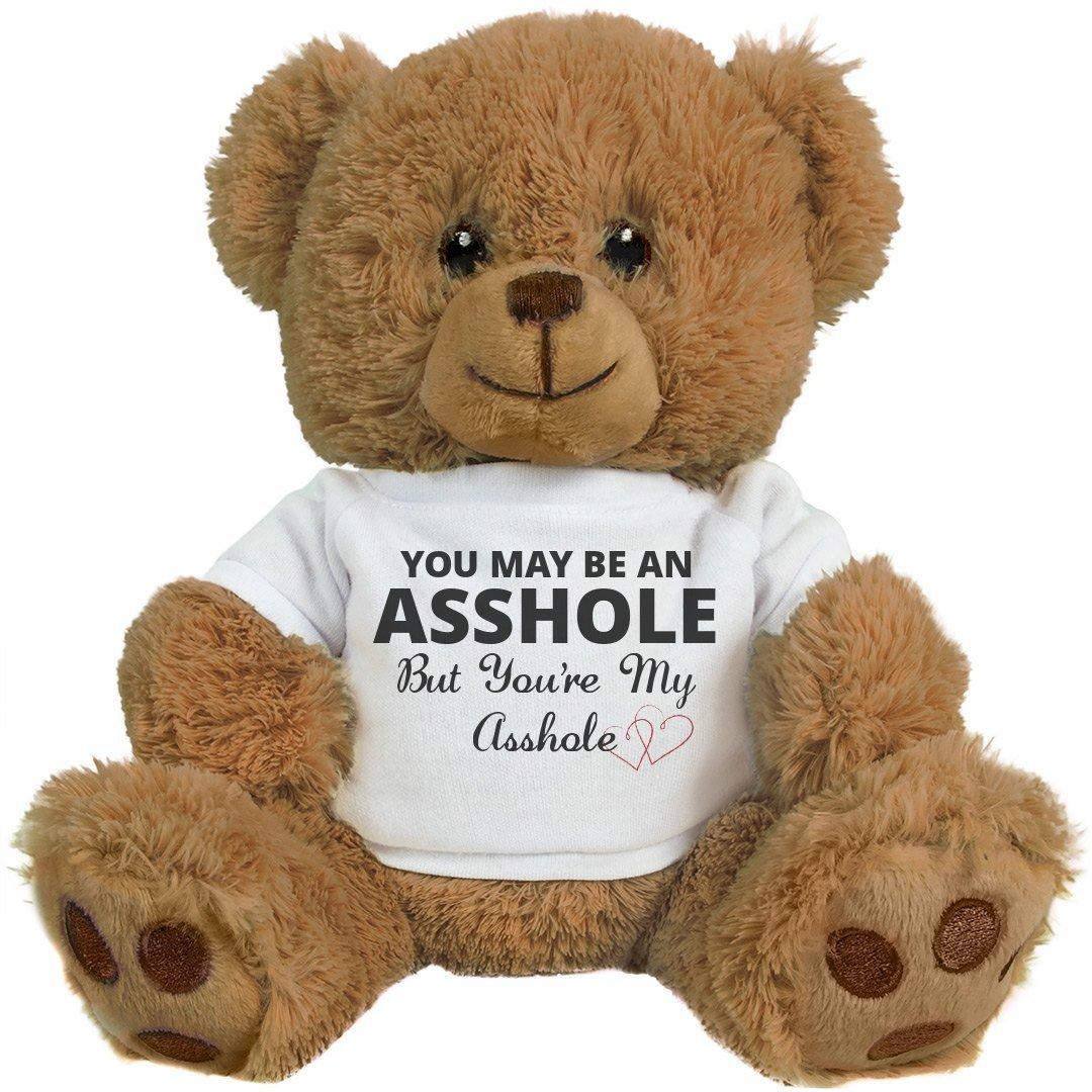 FUNNYSHIRTS.ORG Funny Teddy Bear Couple Gift: 8 Inch Teddy Bear Stuffed Animal