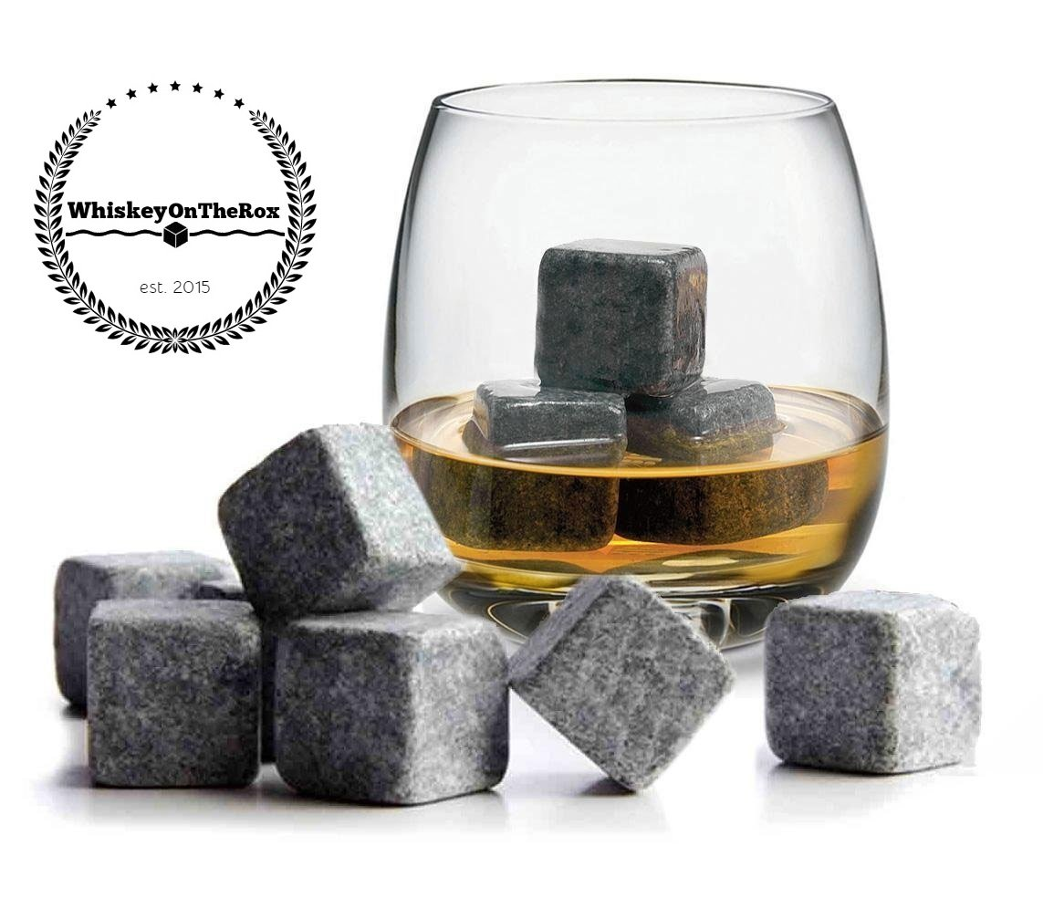WhiskeyOnTheRox Premium Whiskey Stones Chilling Rocks for Scotch, Whiskey, Beer, Wine and More!