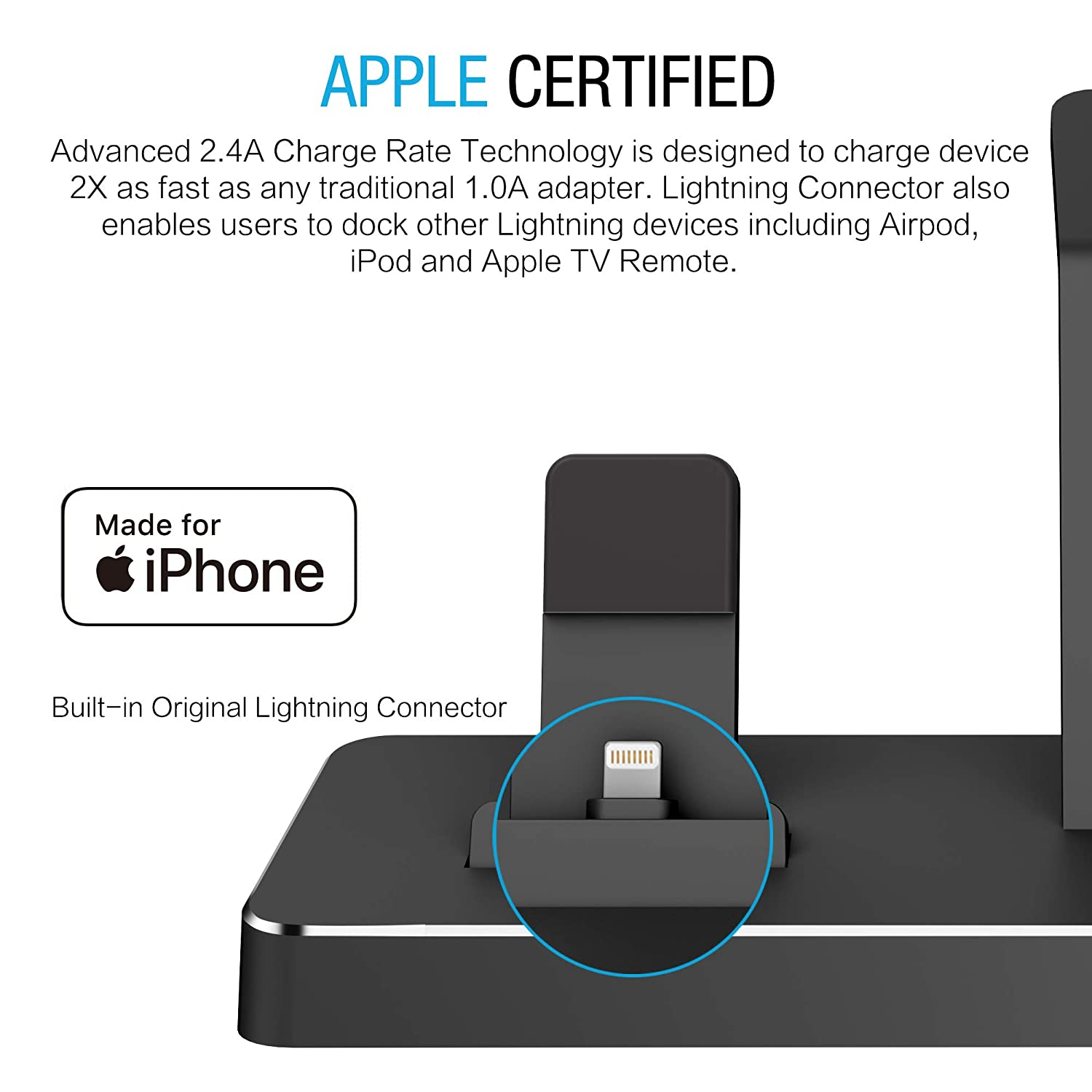 amazon com one dock apple certified power station dock stand rh amazon com