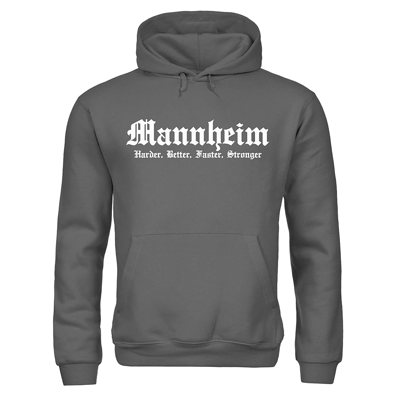 Dress-puntos Herren Kapuzenpullover Mannheim Harder Better Faster Faster Faster Stronger Stadtname City B07P6QDWRK Kapuzenpullover Billig 52cb8a