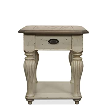 High Quality Coventry Two Tone 28 In. Rectangular End Table