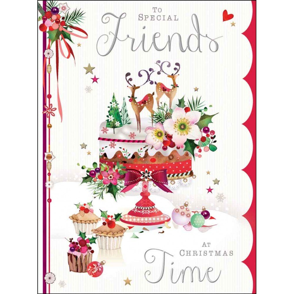 Christmas Card Jj8886 Special Friends Christmas Cakes At