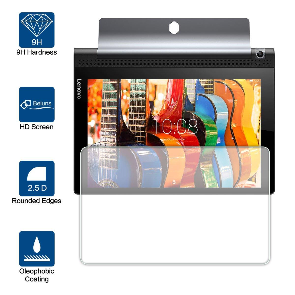 Beiuns Vidrio Templado Protector de Pantalla para Lenovo Yoga Tablet 3-10 (10.1 Pulgadas)