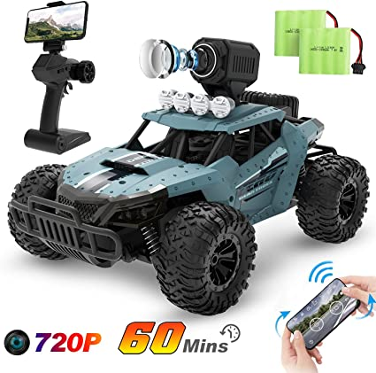 Amazon Com Deerc Rc Cars De36w Remote Control Car With 720p Hd Fpv Camera 1 16 Scale Off Road Remote Control Truck High Speed Monster Trucks For Kids Adults 2 Batteries For 60 Min Play