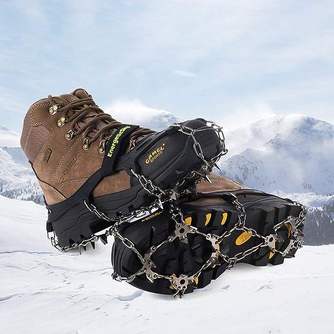 26 Dientes Tacos de tracci/ón Nieve y Hielo Tracci/ón para Invierno Deportes Monta/ñismo Escalada Caminar Alpinismo C/ámping Acampada Senderismo M//L//XL IPSXP Crampones