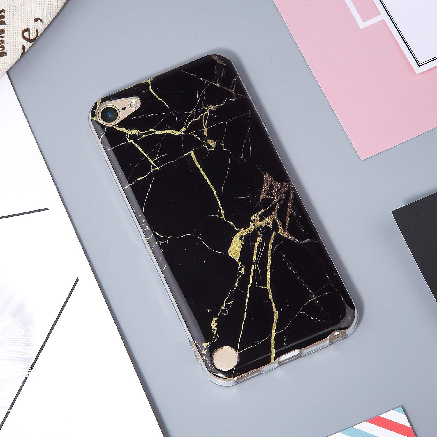 Slim FIT Anti-Scratch Flexible Soft TPU Bumper Protective Case Latest Model,2019 Released IDWELL iPod Touch Case with 2 Screen Protectors iPod Touch 7 Touch 6 Touch 5 Case Shell Pattern-Penguin
