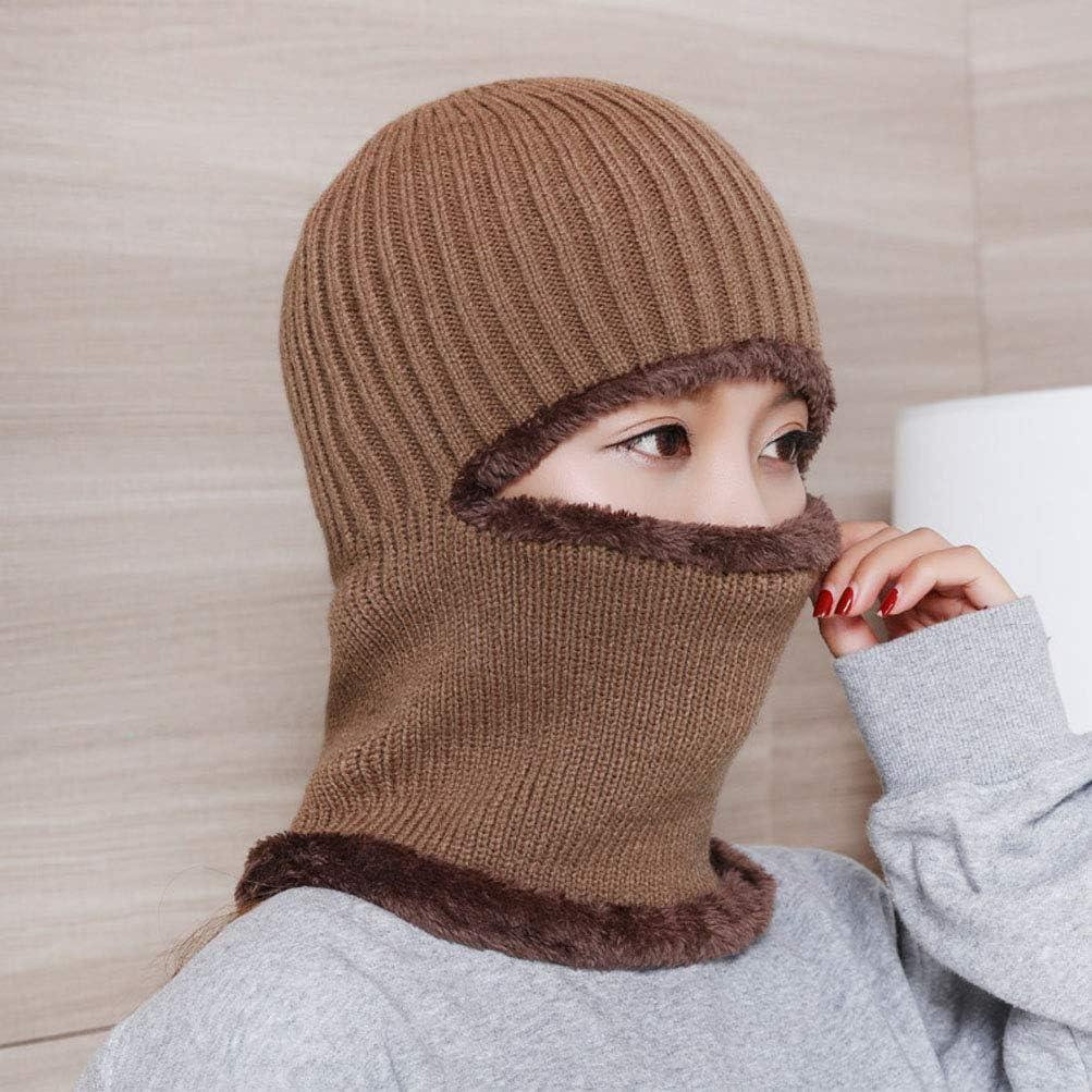 HOBULL Warm Knitted Balaclava Beanie Hat Windproof Ski Face Mask Winter Hats
