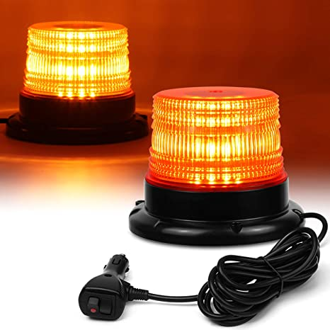 LED Amber Warning Strobe Recovery Truck Light Flashing Magnetic Roof Beacons