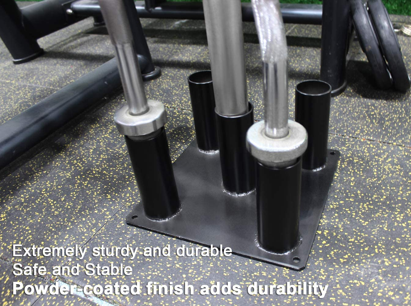 Eapele Barbell Storage Holder for Olympic Bars EZ-Bars Trap Bars 5 Bars