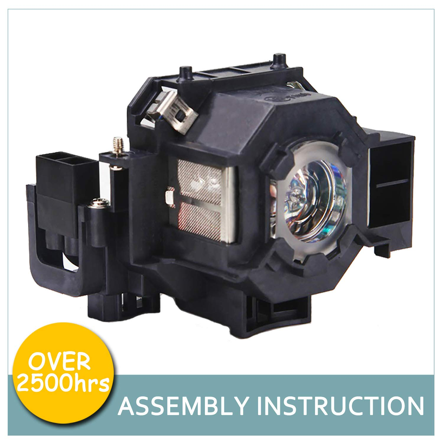LOUTOC Projector Lamp Bulb V13H010L41 for Epson ELPLP41 PowerLite Home Cinema 77C 78 S5 S6 W6 700 EMP-260 77C S5 S52 X5 X52 X6 EX21 EX30 EX50 EX70 H283A H284A by LOUTOC