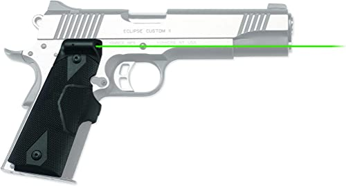 Crimson Trace LG-401 Lasergrips with Heavy Duty Construction and Instinctive Activation for 1911 Full-Size Pistols, Defensive Shooting and Competition