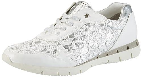 Marco Tozzi 23741, Zapatillas para Mujer, Blanco (White Comb), 38 EU