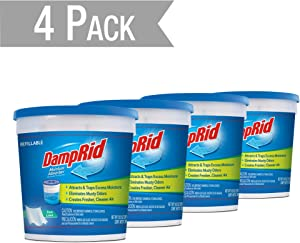 DampRid DR Moist ABS 10.5OZ Pure Linen 4PK - SIOC Moisture Absorber, 4 Pack, Blue, 10 Ounces