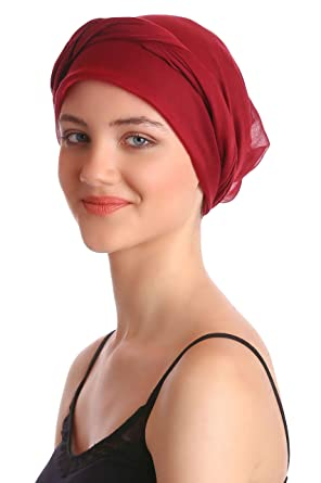 Easy Tie Organic Head Scarves - Burgundy  Amazon.it  Abbigliamento 0419cce23e0a