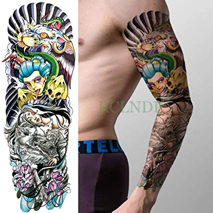 Pistola de apliques de tatuaje a prueba de agua, brazo completo ...