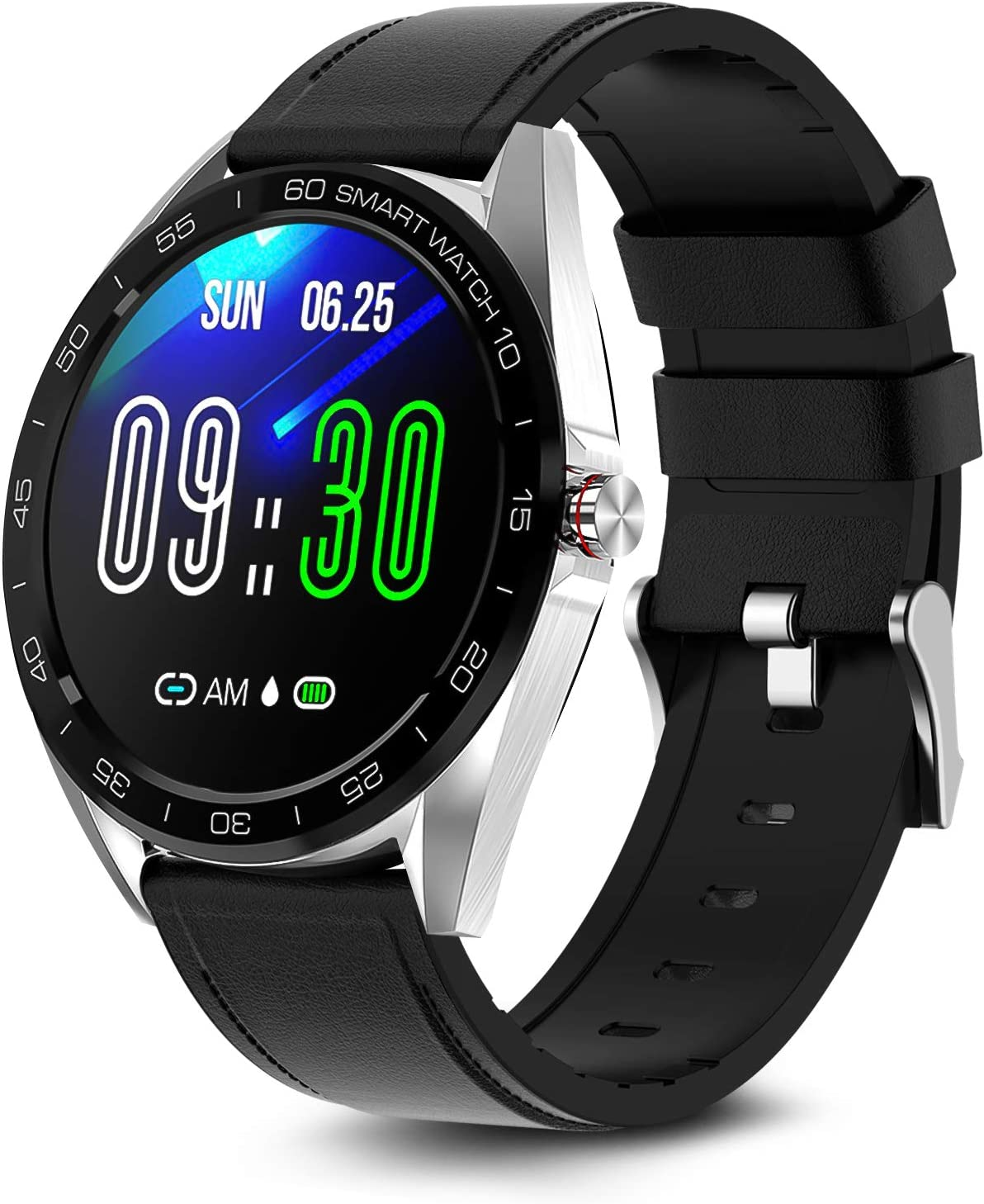 MAXTOP Smart Watch Compatible with iPhone and Android Phones,Smartwatch Fitness Tracker IP67 Swimming Waterproof with Heart Rate Blood Pressure Sleep Monitor Activity Tracker for Men Women Model K7