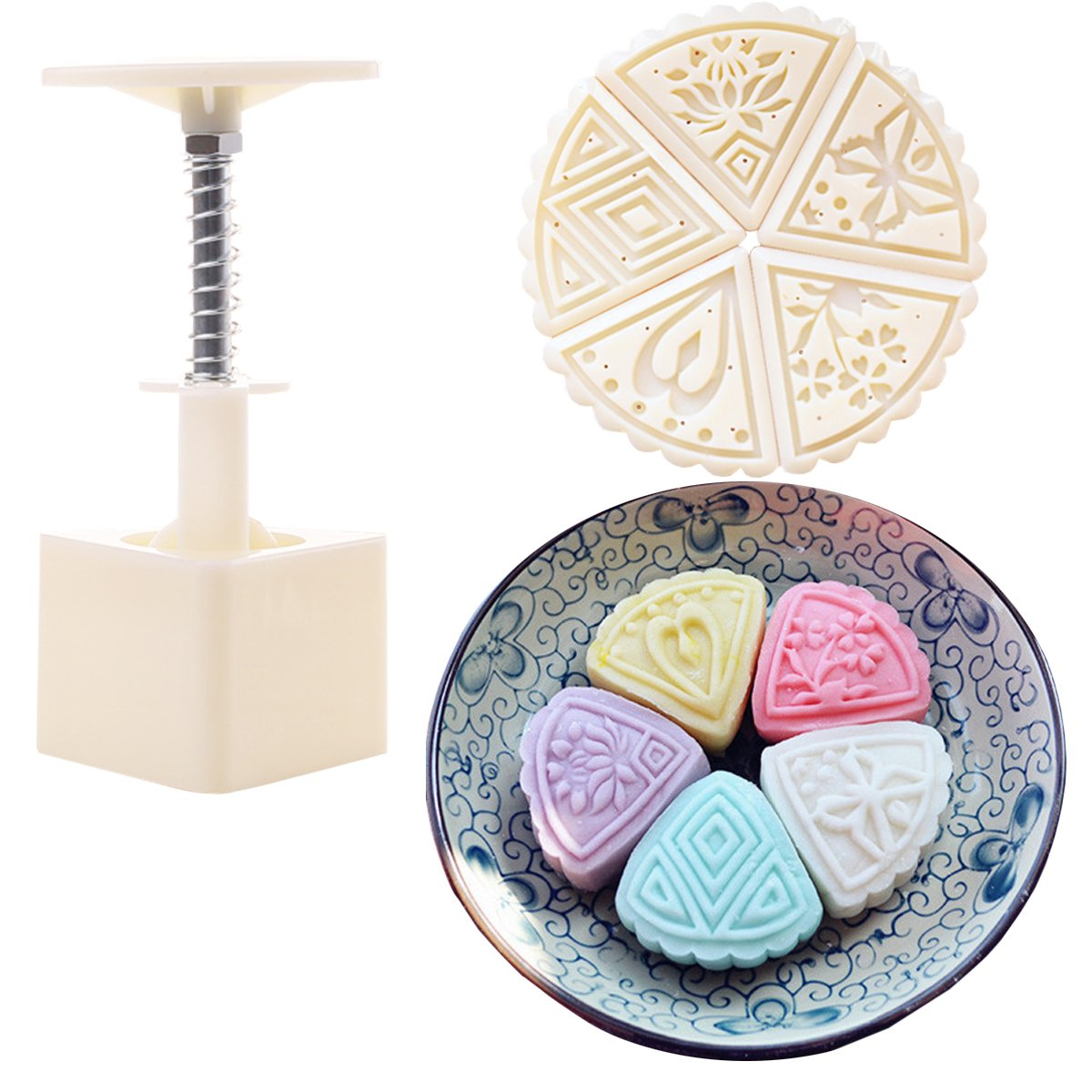 Father.son mooncake tools cake mould cake mold China's Mid-Autumn Festival Moon cake mold DIY tools set (tradition of 4 100g) fs.cm.4