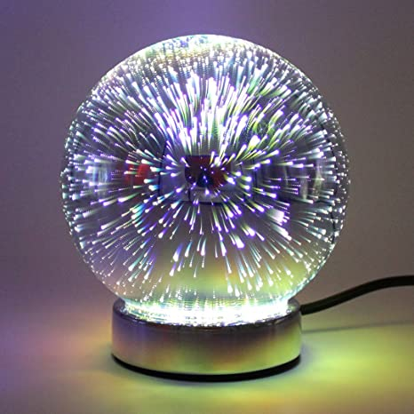 Silver Galaxy table Lamp