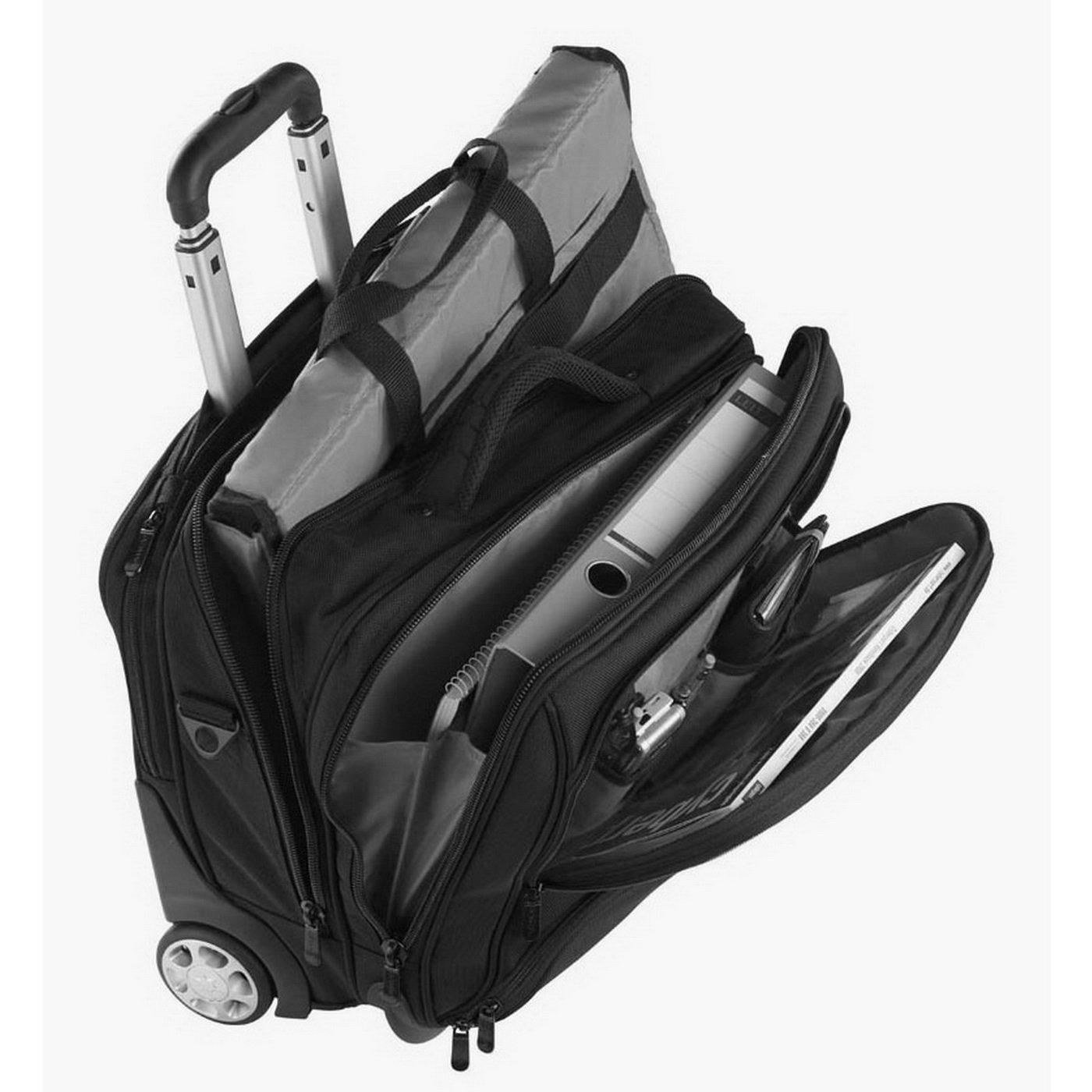DERMATA Blue Nylon Laptop Trolley Bag 17 Inches