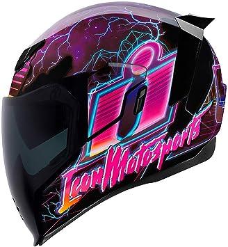 Icon Motorrad Airflite Helm Synthwave Purple Größe M 57 Sport Freizeit