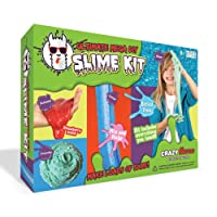 The Ultimate Mega DIY Slime Kit | Make Crunchy, Fluffy, Neon, Scented and Glitter Slimes - Safe and Borax Free - Includes A Large Slime Activator, Glitters, Scents, Floam Beads, Colours and More | Make Perfect Slime Every Time With Our Huge Slime Making Kit!