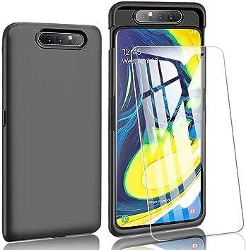 Superyong Funda Samsung Galaxy A80/A90,360°Caja Caso+Vidrio ...