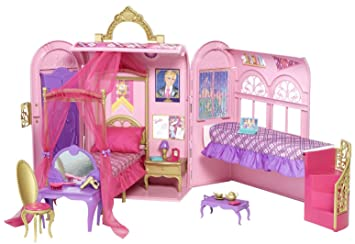 Mattel V6823 - Barbie Prinzessinnen-Schlafzimmer und Bad: Amazon.de ...