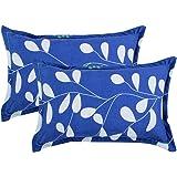 """BSB HOME Cotton 2 Piece Cotton Pillow Cover Set - 20""""x30"""", Royal Blue"""