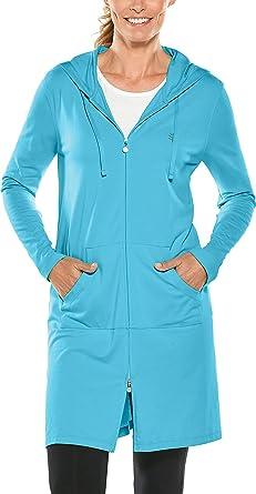 03ba573f10 Amazon.com: Coolibar UPF 50+ Women's Cabana Hoodie - Sun Protective:  Clothing