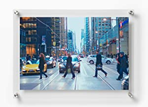 Wexel Art 21x27-Inch Double Panel Grade Acrylic Floating Frame with Silver Hardware for, 18x24-Inch Art & Photos