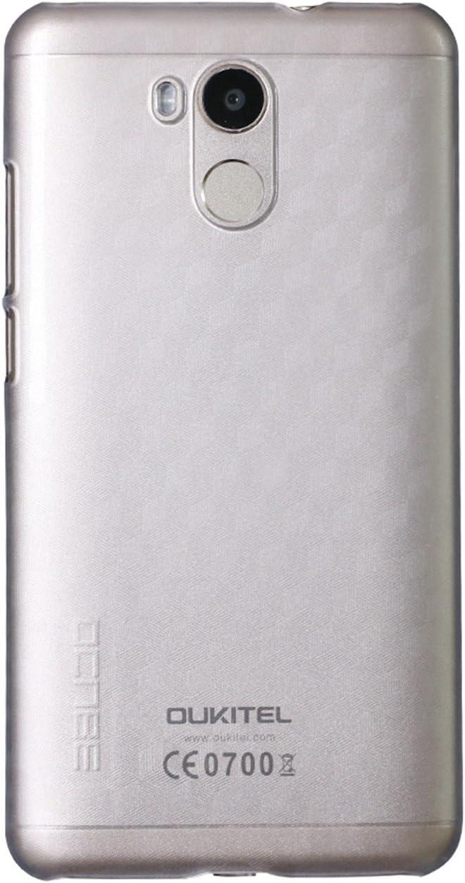 Guran® Plástico Hard Funda Cascara para Oukitel U15 Pro Smartphone Bumper PC Case Cover-blanco transparente: Amazon.es: Electrónica