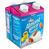 Almond Breeze, Dairy Free Almondmilk, Unsweetened Vanilla, 8 Ounce , Pack of 4