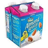 Almond Breeze, Dairy Free Almondmilk, Unsweetened Vanilla, 8 Ounce , Pack of 4