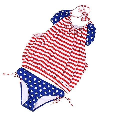 Bikini mujer nuevo Traje de baño, ❤ 💫 Ba Zha Hei Bandera nacional Red