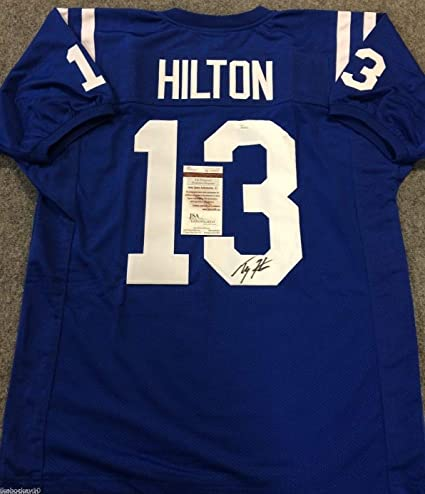 best service f27c7 cf442 T.Y. TY HILTON AUTOGRAPHED SIGNED INDIANAPOLIS COLTS JERSEY ...
