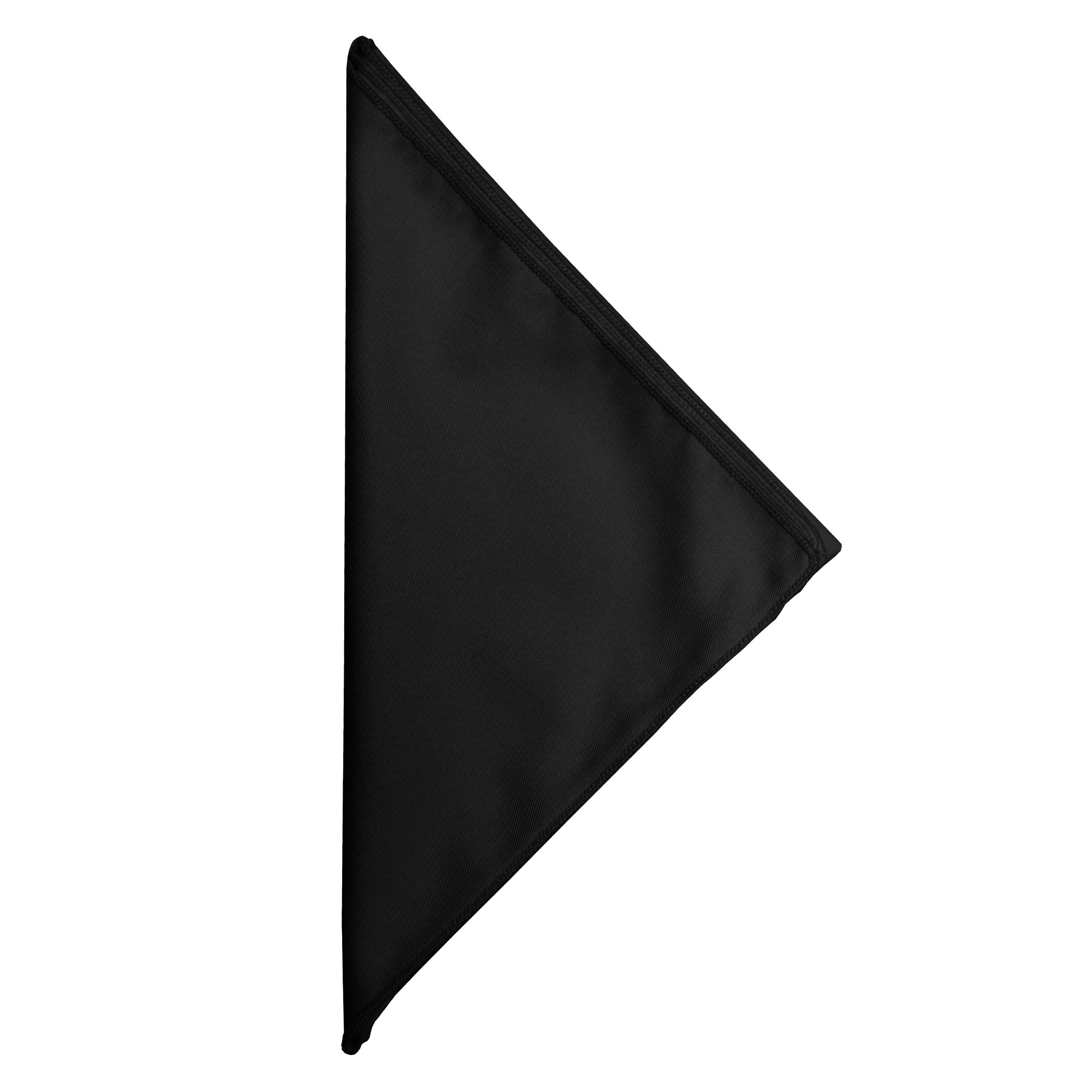 Ultimate Textile -2 Dozen- Poly-cotton Twill 10 x 10-Inch Cloth Cocktail Napkins - for Restaurant and Catering, Hotel or Home Dining use, Black