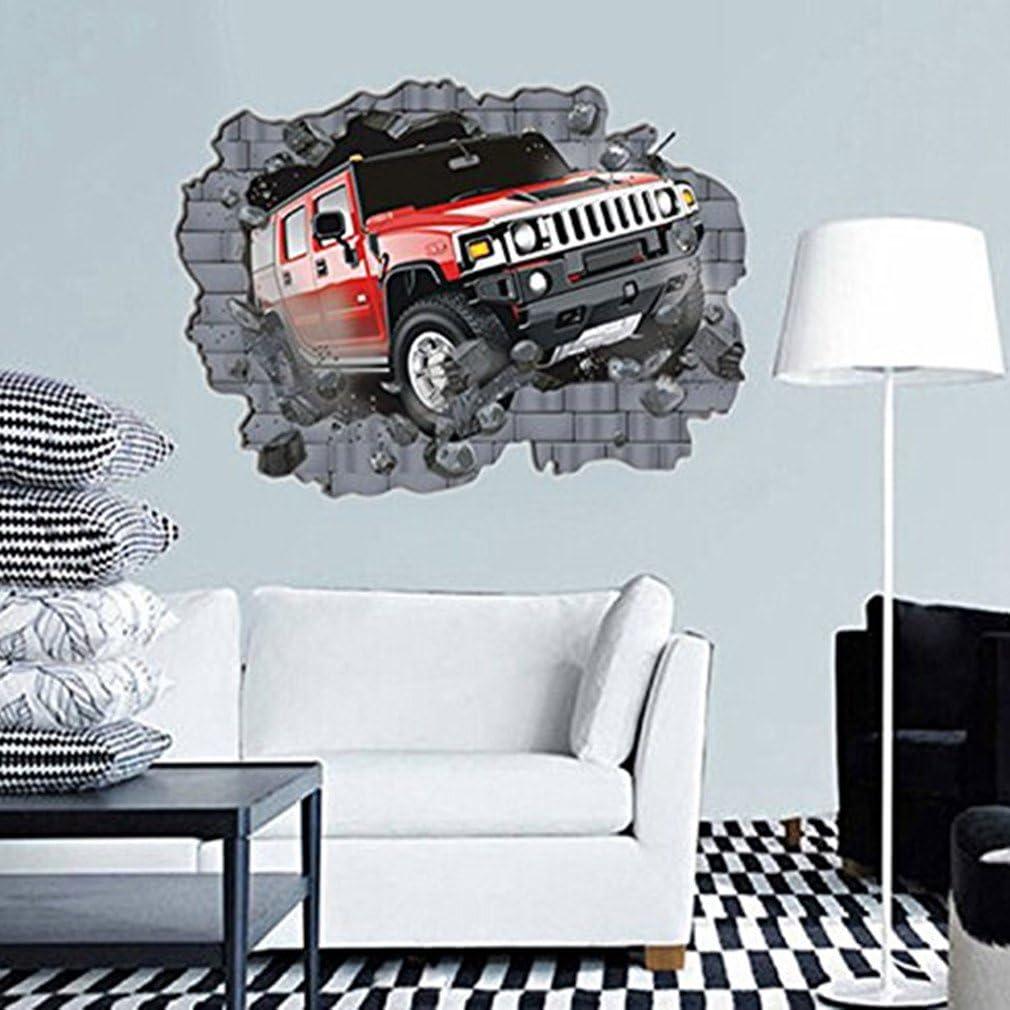 UK DEALS Amovible 3D Autocollant Mural Stickers Muraux Art Stickers D/écoration Papier Peint Cr/éatif pour Salon Chambre Maison De TheBigThumb
