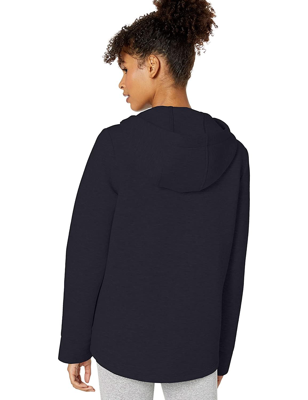 Betsey Johnson Womens Asymmetric Zip Front Bonded Jacket